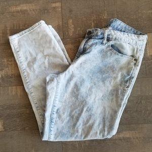 Gap Always Skinny Light Acid Wash Crop Denim Jeans